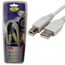 FTT6-038 ΚΑΛΩΔΙΩΣΗ USB A-B Version2 1.5meter