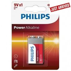Philips Power alkaline 9V battery 6LR61   (1 pack)