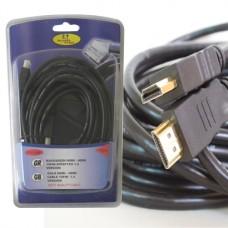 FTT1-026 HDMI-HDMI επίχρυσο 10m 1.4version