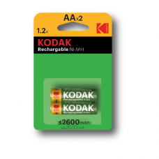 30955080 Kodak rechargeable Ni-MH AA battery 2600mAh (2 pack) ΤΙΜΗ/ΤΕΜΑΧΙΟ