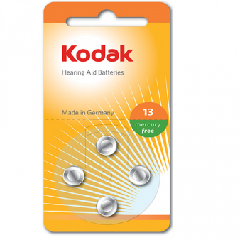30410411 Kodak hearing aid P13 battery (4 pack)