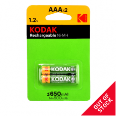 30955042 Kodak rechargeable Ni-MH AAA battery 650mAh (2 pack)