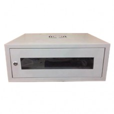 RACK40 CABIN WALL WITH GLASS DOOR 4U (530X400X210) with 6 way multiscocket and Fan