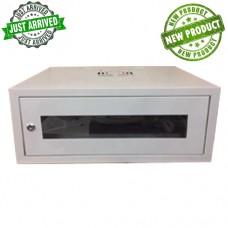 RACK60 CABIN WALL WITH GLASS DOOR 6U (530X400X300) with 6 way multiscocket,Fan & Shelf