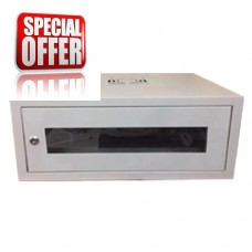 RACK40/1 CABIN WALL WITH GLASS DOOR 4U (530X400X210) with 6 way multiscocket and Fan