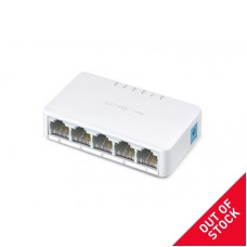 MERCUSYS 5 – port switch ethernet 10/100Mbps, plastic case