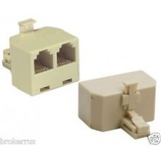 FTT3-053 PHONE SPLITTER ( 1 male to 2 females)